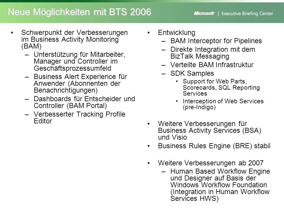 Neue Möglichkeiten mit BTS 2006