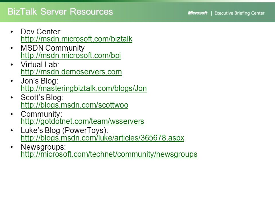 BizTalk Server Resources