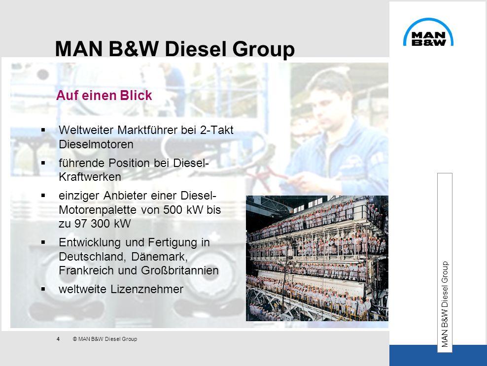 MAN B&W Diesel Group Auf einen Blick