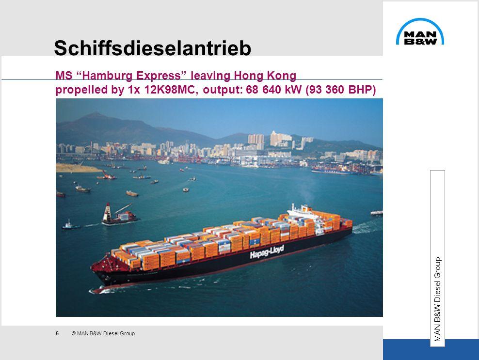 Schiffsdieselantrieb