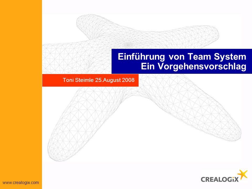 Einführung von Team System Ein Vorgehensvorschlag