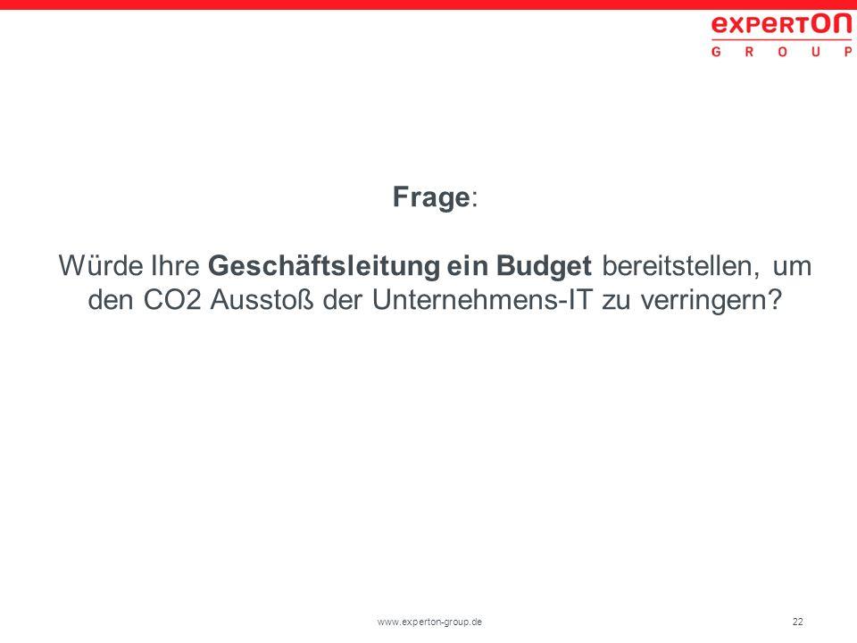 Frage: Würde Ihre Geschäftsleitung ein Budget bereitstellen, um den CO2 Ausstoß der Unternehmens-IT zu verringern