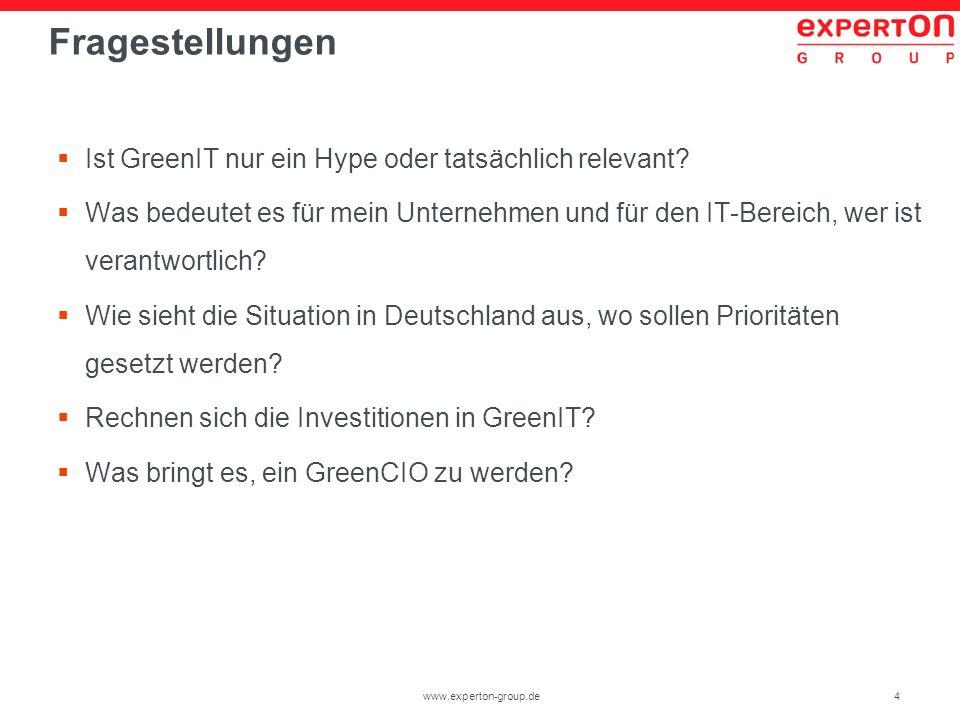Fragestellungen Ist GreenIT nur ein Hype oder tatsächlich relevant