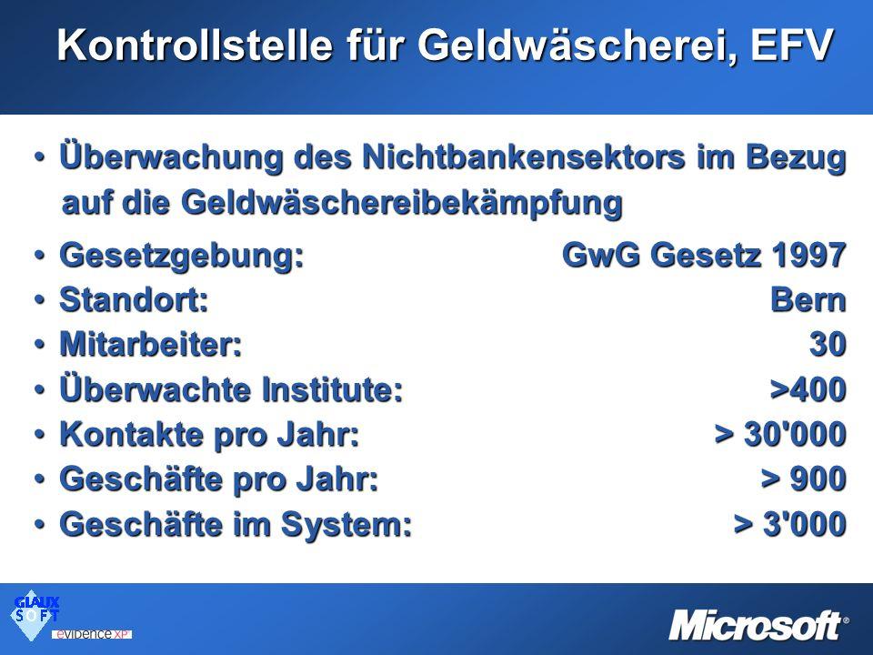 Kontrollstelle für Geldwäscherei, EFV