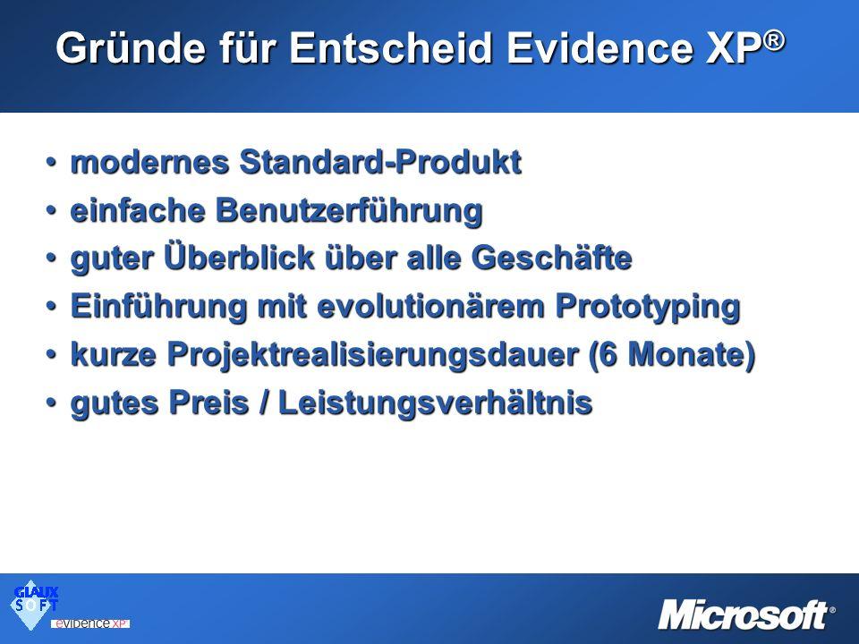 Gründe für Entscheid Evidence XP®