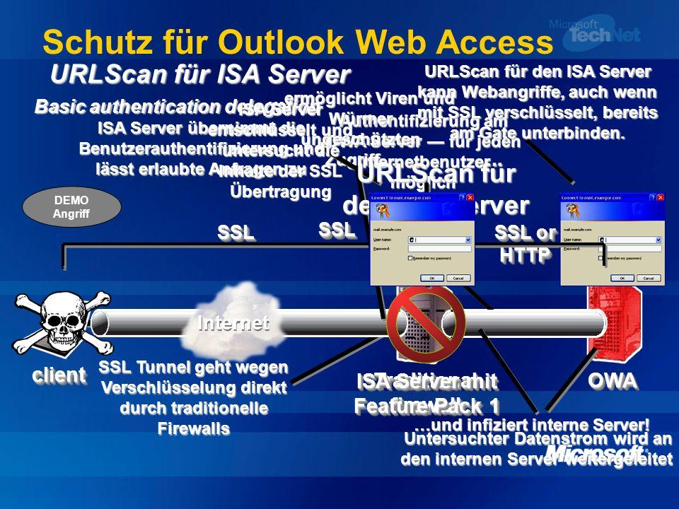 Schutz für Outlook Web Access