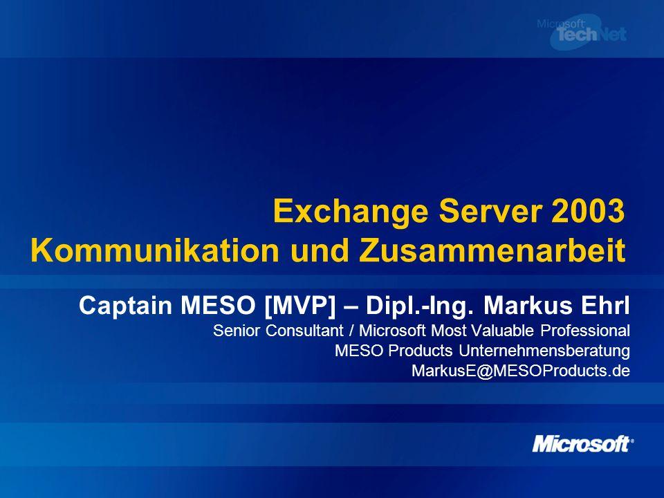 Exchange Server 2003 Kommunikation und Zusammenarbeit
