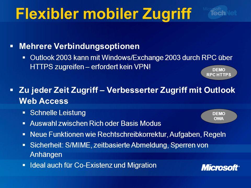 Flexibler mobiler Zugriff