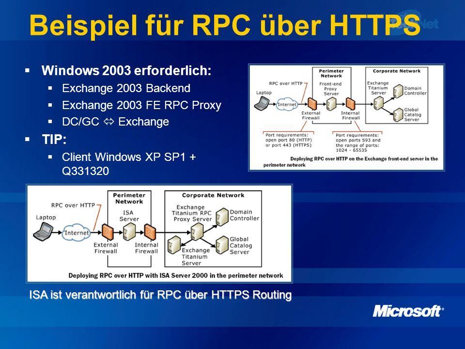 Beispiel für RPC über HTTPS