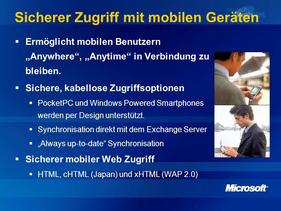 Sicherer Zugriff mit mobilen Geräten