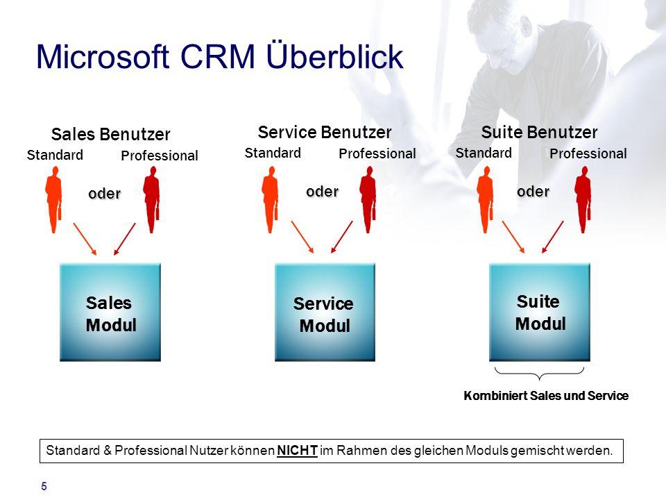 Microsoft CRM Überblick