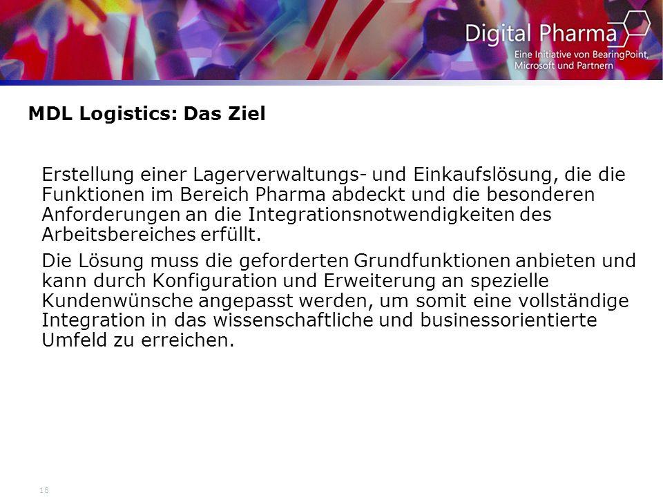 MDL Logistics: Das Ziel