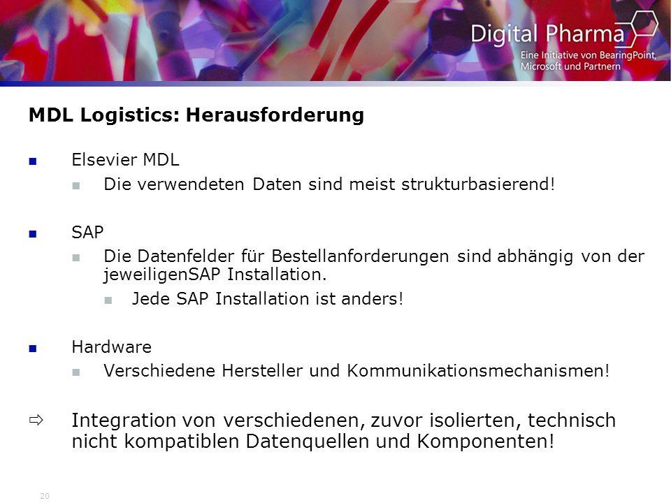 MDL Logistics: Herausforderung