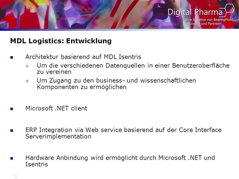 MDL Logistics: Entwicklung