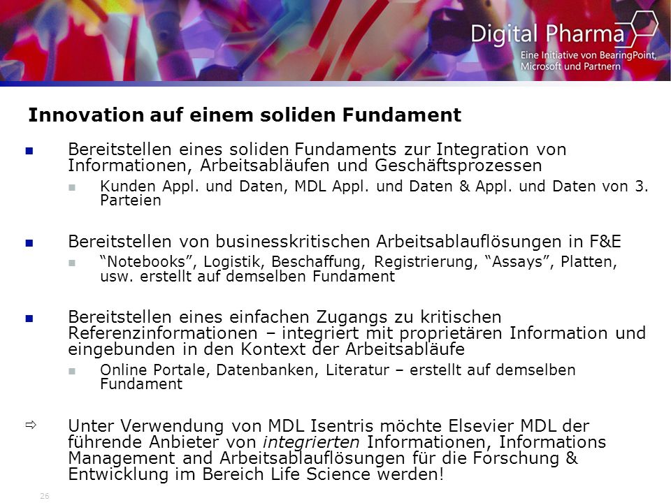 Innovation auf einem soliden Fundament