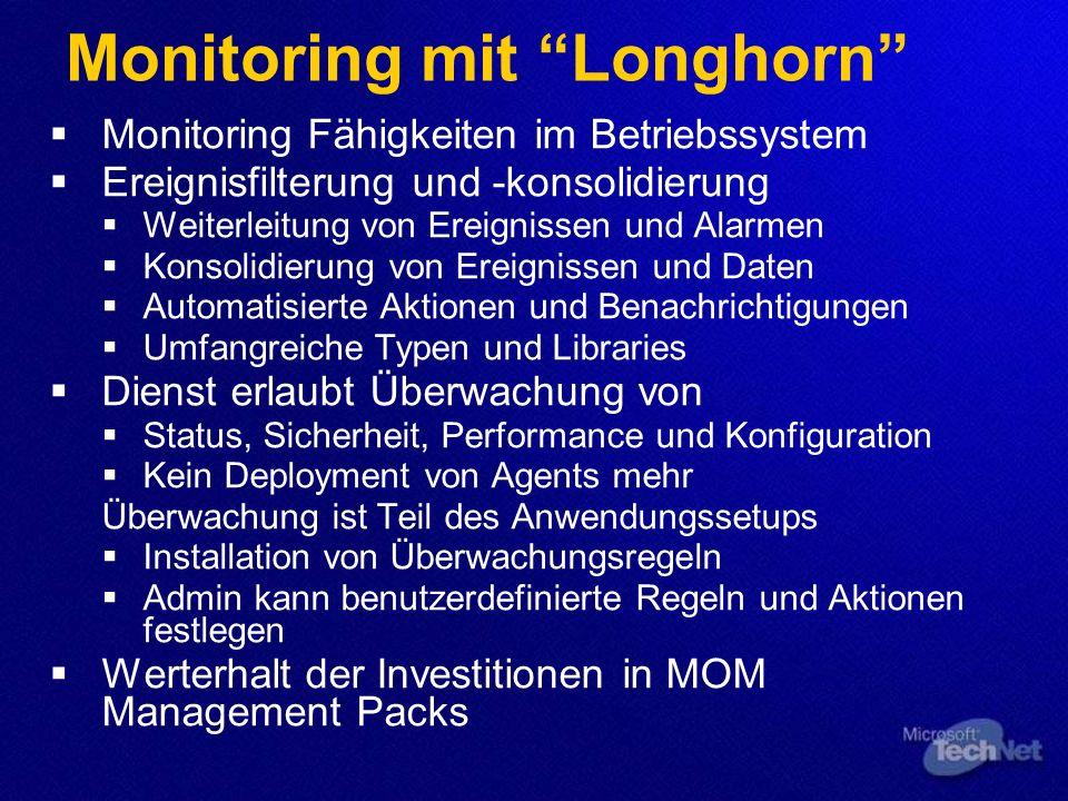 Monitoring mit Longhorn