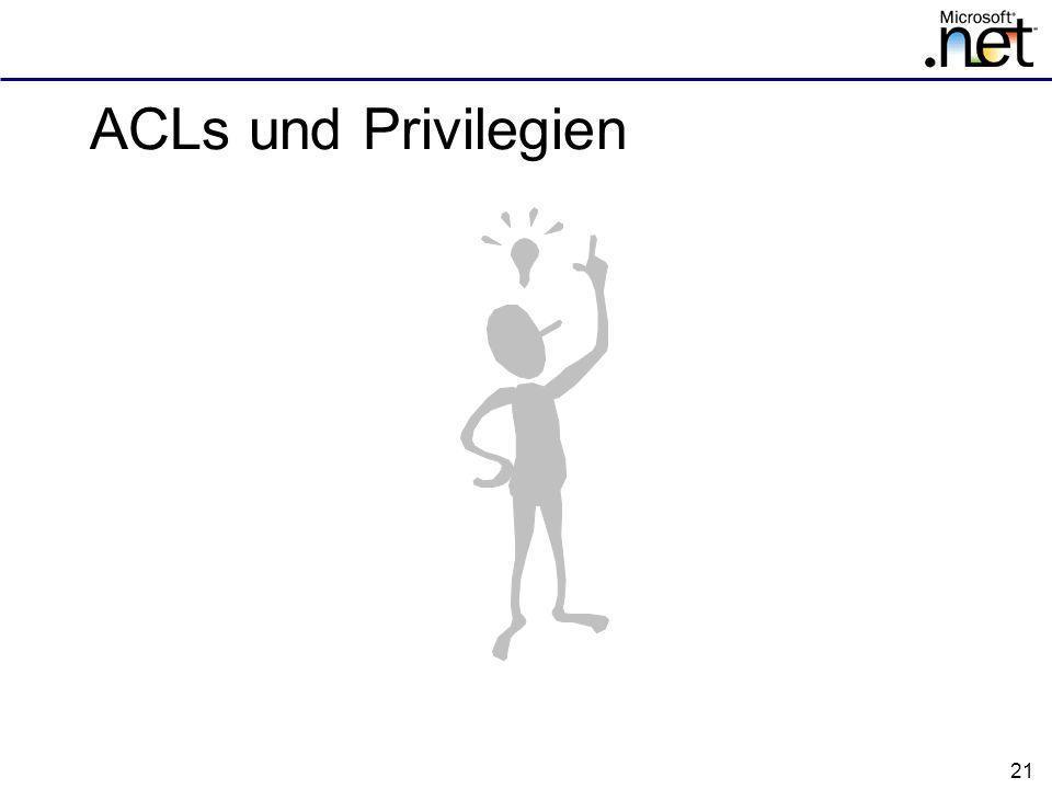 ACLs und Privilegien