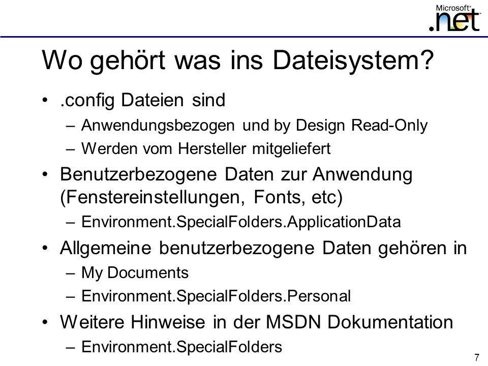 Wo gehört was ins Dateisystem