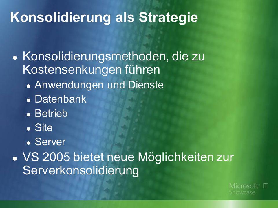 Konsolidierung als Strategie