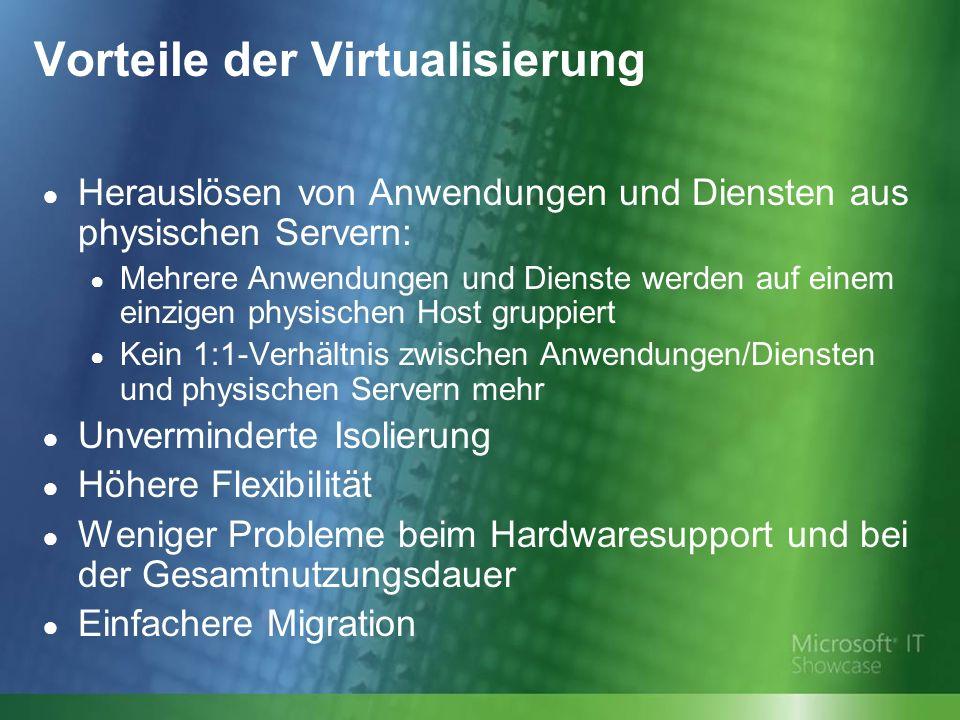Vorteile der Virtualisierung