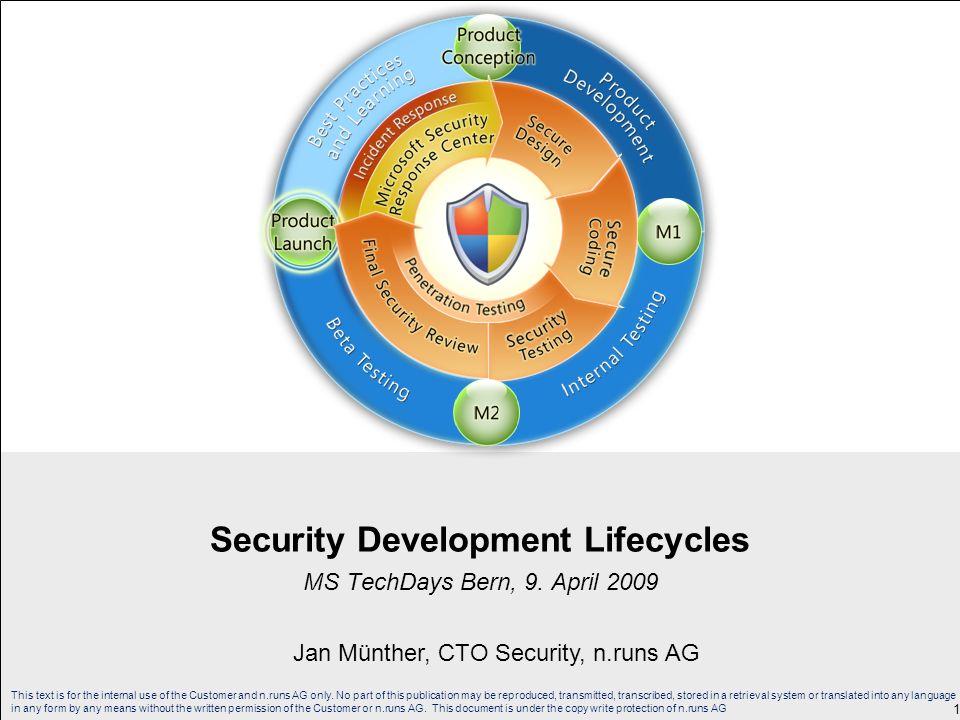 Security Development Lifecycles