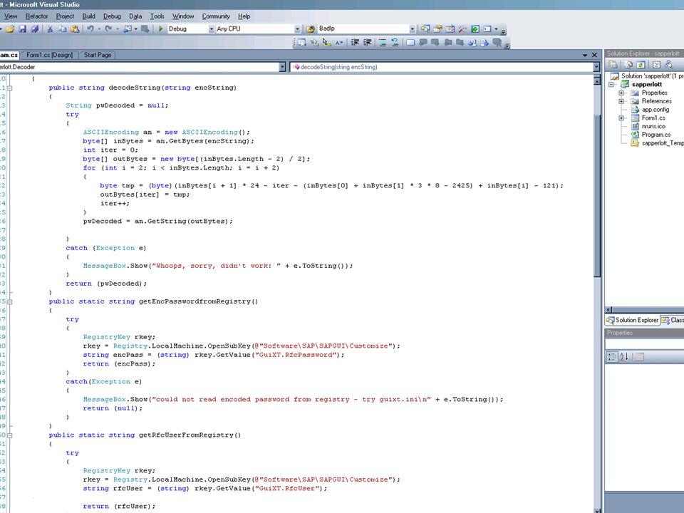 Phase Drei: Design ( 9 / ) Design-Problem: Schlechte Kryptographie