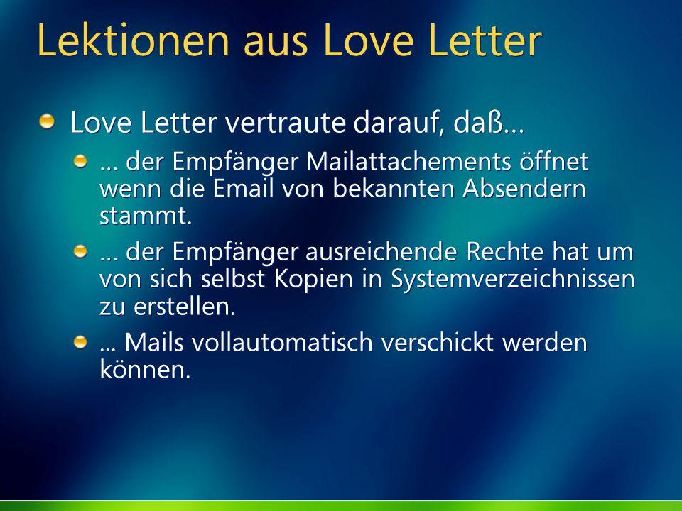 Lektionen aus Love Letter