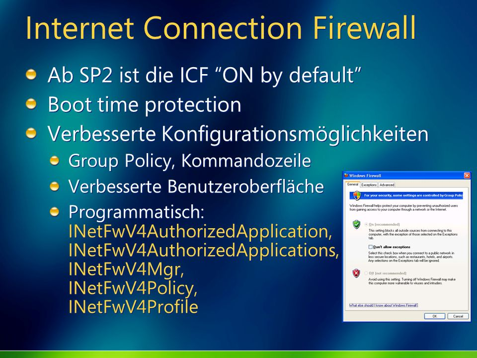 Internet Connection Firewall