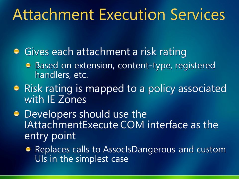 Attachment Execution Services