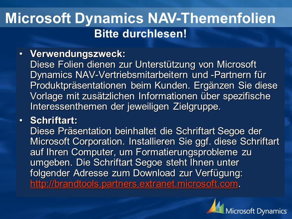 Microsoft Dynamics NAV-Themenfolien