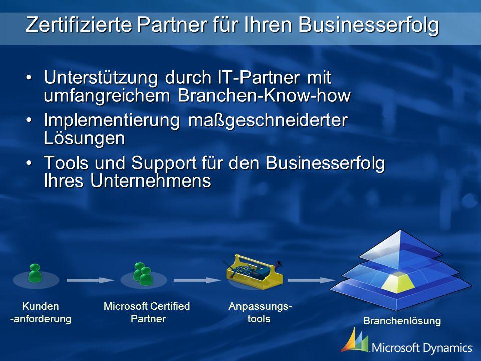Zertifizierte Partner für Ihren Businesserfolg