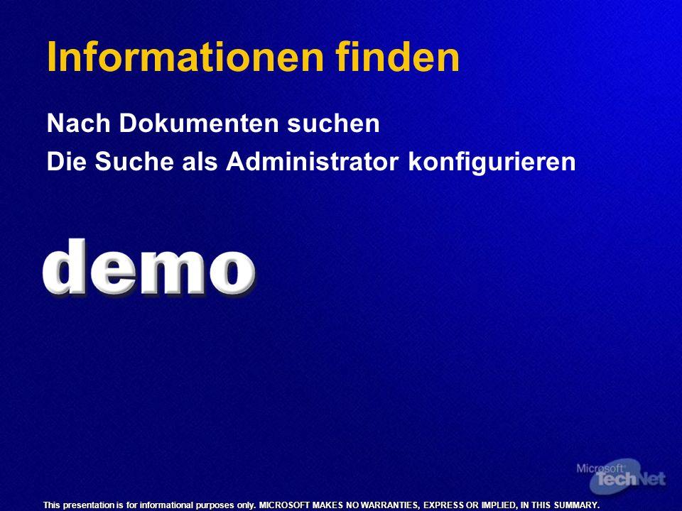 Informationen finden Nach Dokumenten suchen