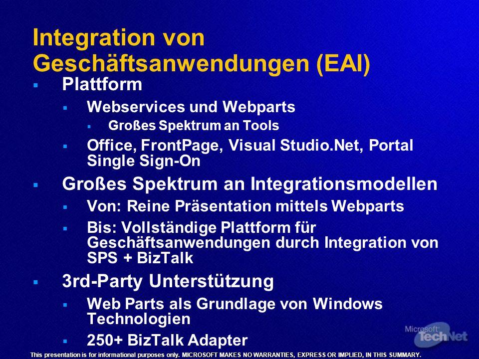Integration von Geschäftsanwendungen (EAI)