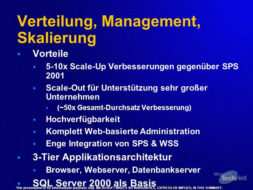 Verteilung, Management, Skalierung