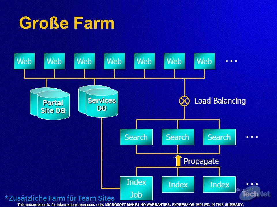 *Zusätzliche Farm für Team Sites