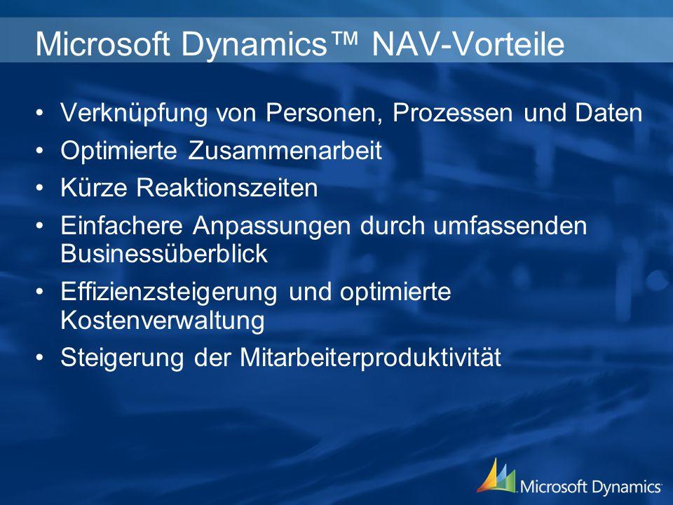 Microsoft Dynamics™ NAV-Vorteile