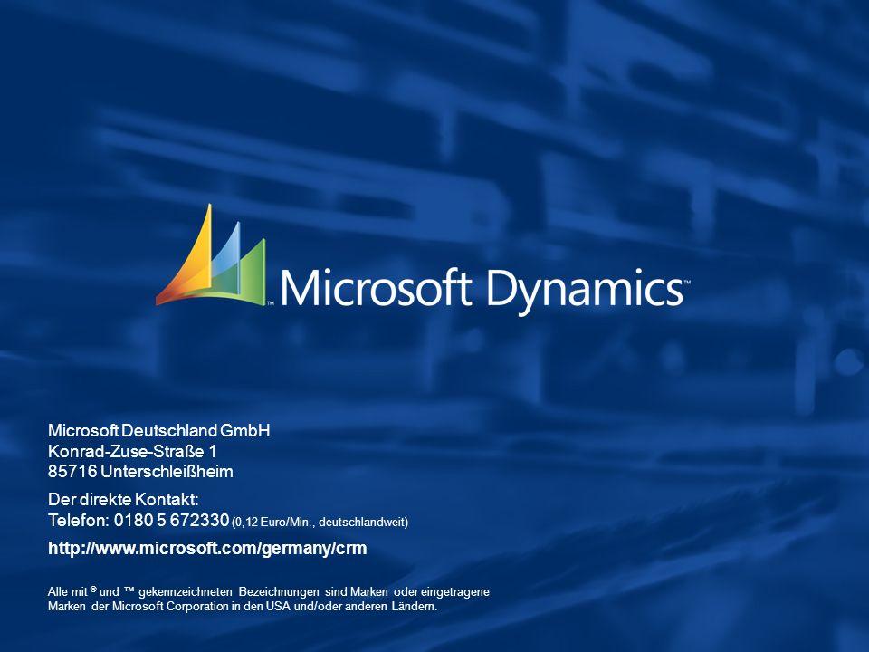Microsoft Deutschland GmbH Konrad-Zuse-Straße 1 85716 Unterschleißheim