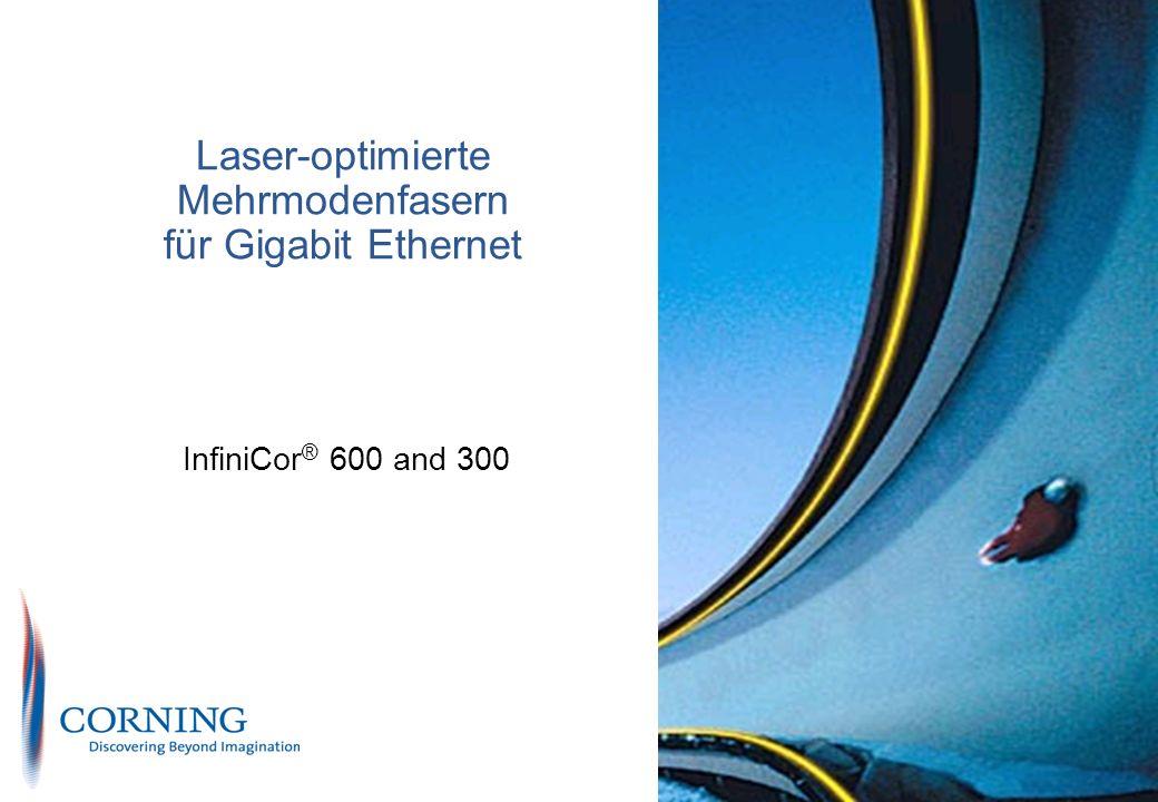 Laser-optimierte Mehrmodenfasern für Gigabit Ethernet