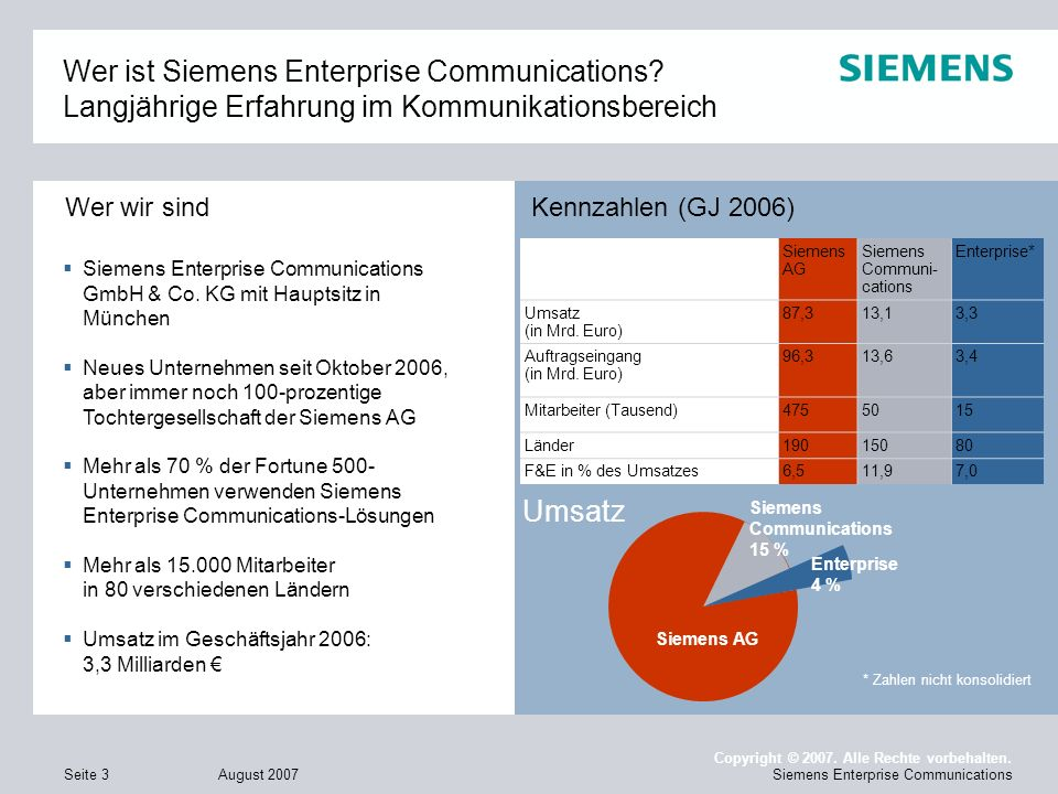 Wer ist Siemens Enterprise Communications