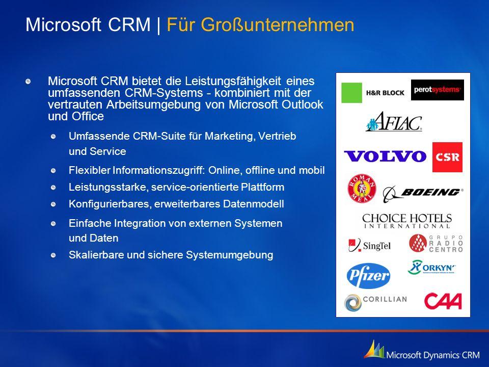 Microsoft CRM | Für Großunternehmen