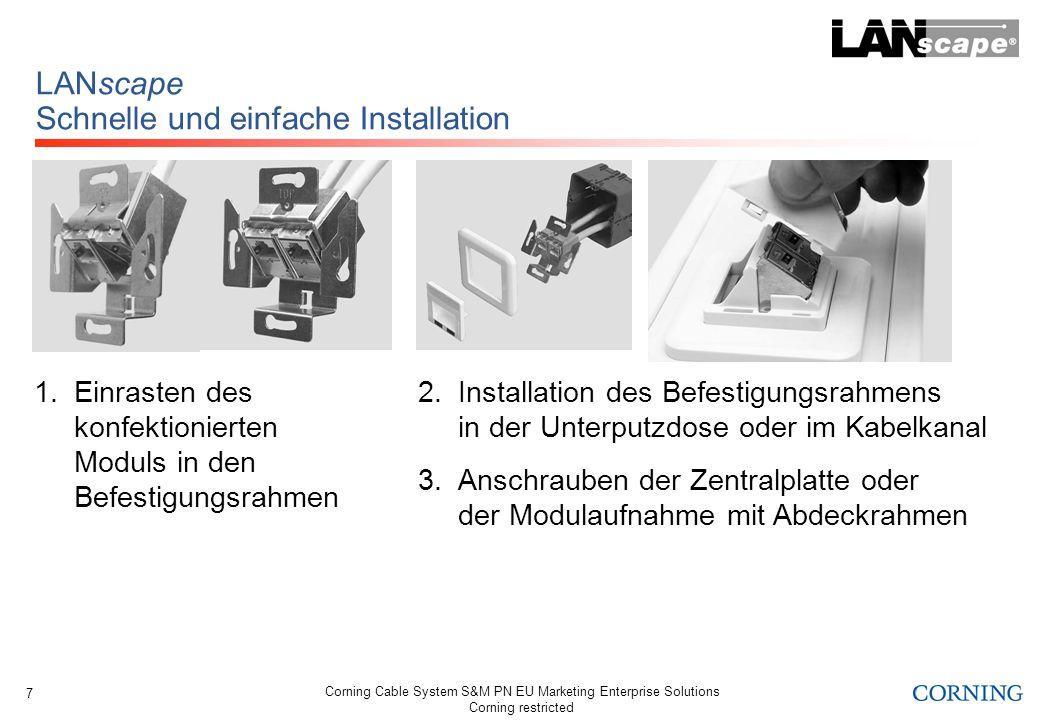 LANscape Schnelle und einfache Installation