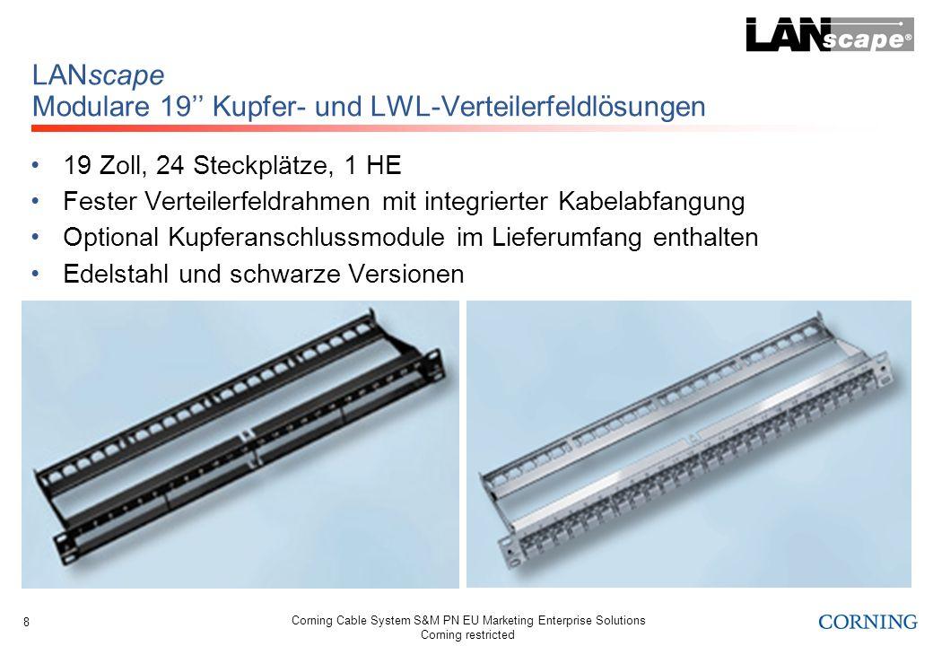 LANscape Modulare 19'' Kupfer- und LWL-Verteilerfeldlösungen
