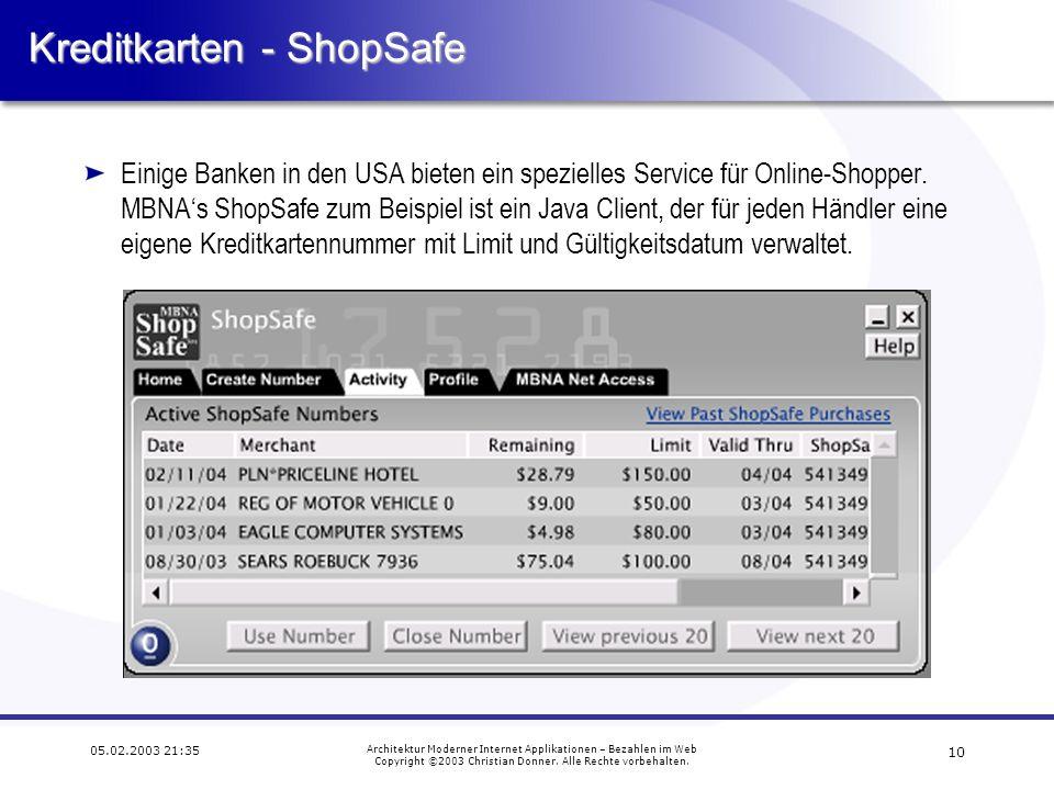 Kreditkarten - ShopSafe