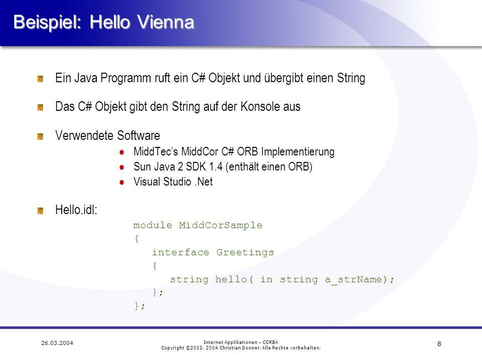Beispiel: Hello Vienna