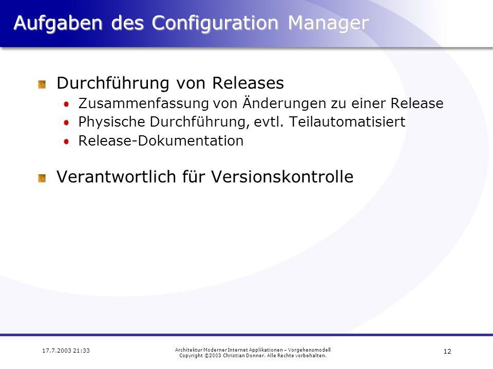 Aufgaben des Configuration Manager