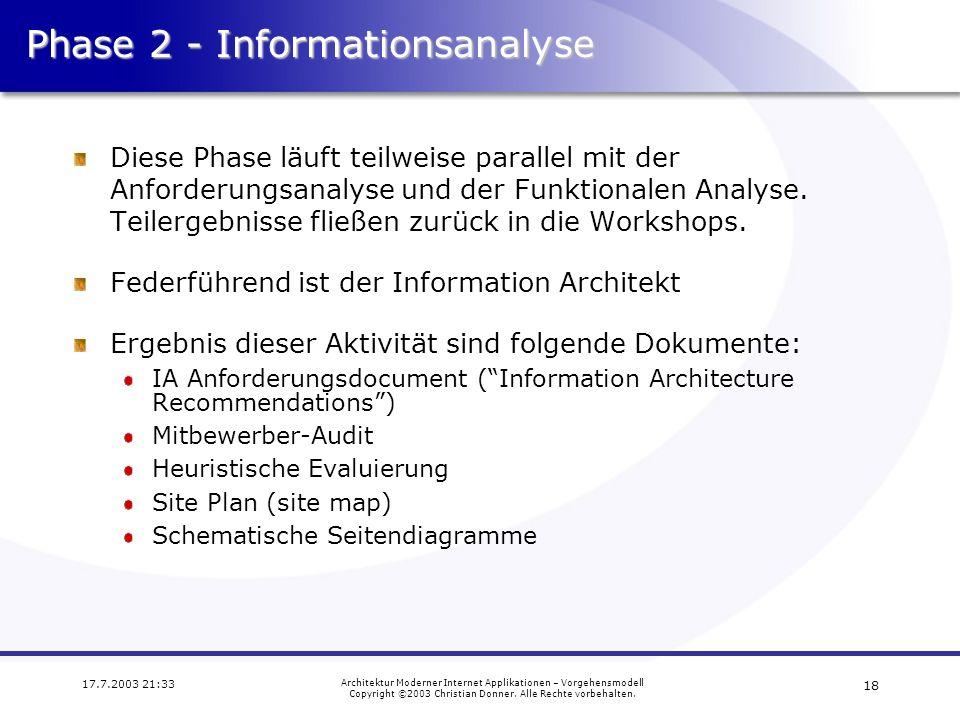 Phase 2 - Informationsanalyse