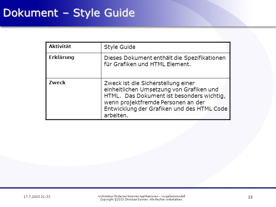 Dokument – Style Guide Style Guide
