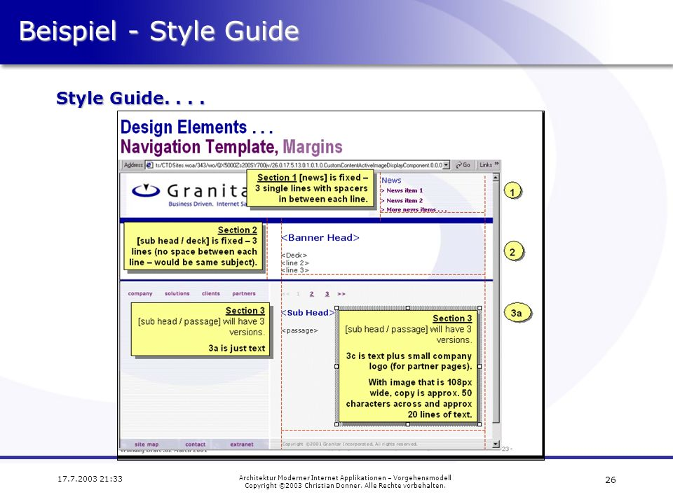 Beispiel - Style Guide Style Guide. . . .