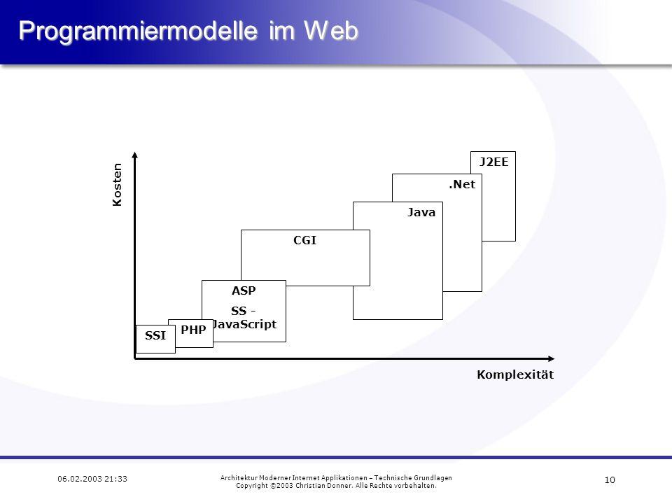 Programmiermodelle im Web
